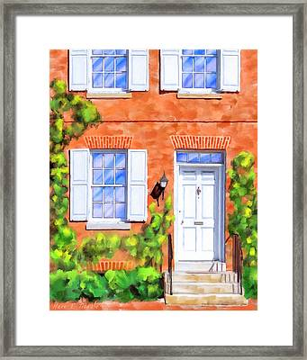 Framed Print featuring the mixed media Cozy Rowhouse Style by Mark Tisdale
