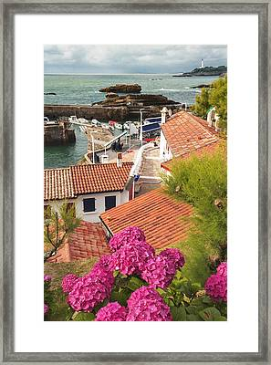 cozy tourist town on the Bay of Biscay Framed Print