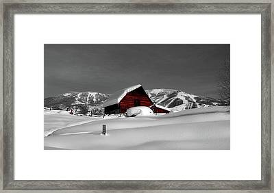 Cozy Winter Cabin Framed Print
