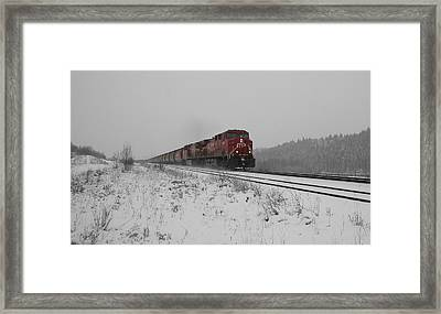 Framed Print featuring the photograph Cp Rail 2 by Stuart Turnbull