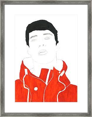 Cp Red Hoodie Framed Print by Thomas Paul