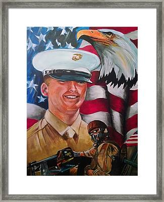 Cpl. Drown Framed Print