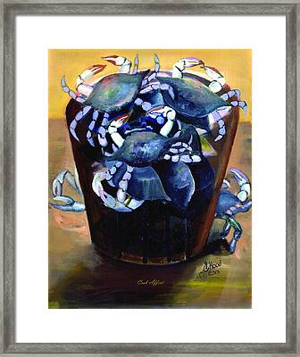 Crab Affect Framed Print