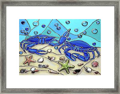 Crab Conversation Framed Print