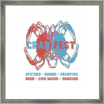 Crab Fest Tee Framed Print by Edward Fielding