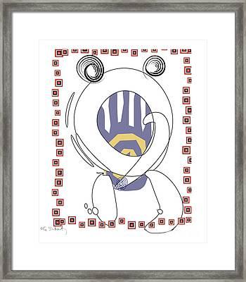 Framed Print featuring the digital art Crab by Gabrielle Schertz