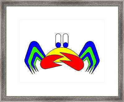 Crab-mac-claw The Crab Framed Print by Asbjorn Lonvig