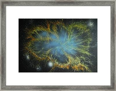Crab Nebula Framed Print by DC Decker