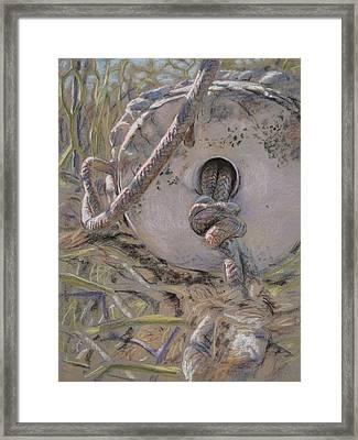 Crab Pot Float Framed Print by Christopher Reid