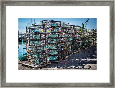 Crab Pots Framed Print by Paul Freidlund