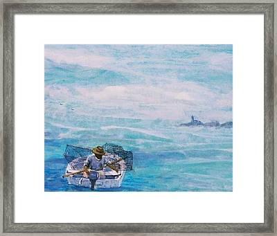 Crab Traps Framed Print by Ruth Mabee