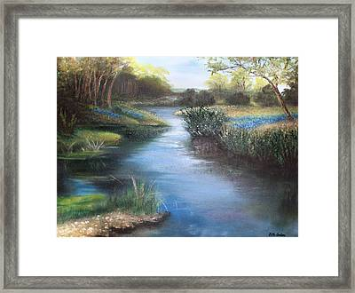 Crabapple Creek Evening Framed Print