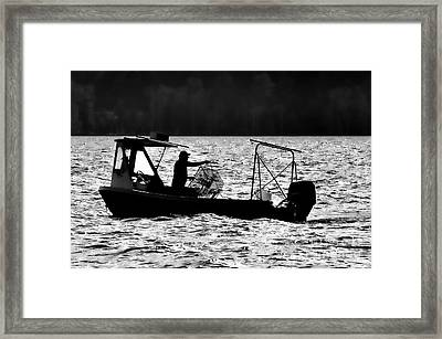 Crabbing On The Pamlico Framed Print