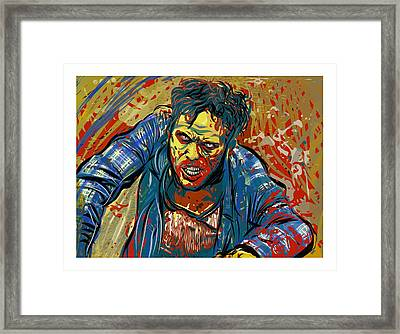 Framed Print featuring the digital art Crabby Joe by Antonio Romero
