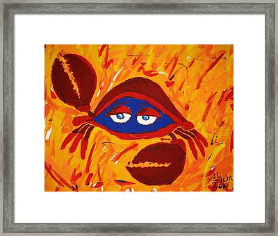 Crabby Framed Print by Yshua The Painter