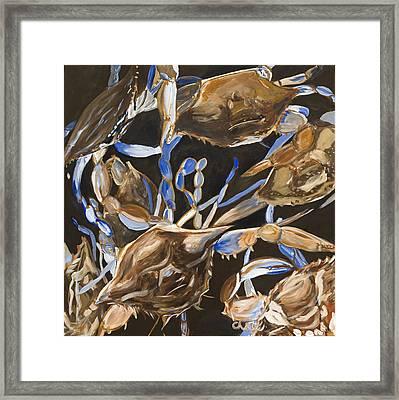 Crabs Framed Print by Chelle Fazal