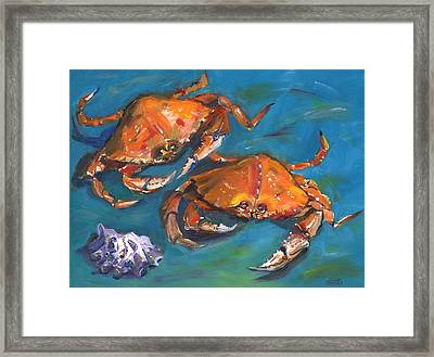 Crabs Framed Print by Susan Thomas
