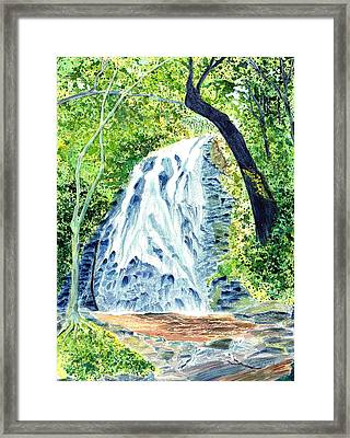 Crabtree Falls - Phantom Of The Blue Ridge Framed Print by Joel Deutsch