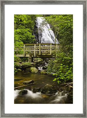 Crabtree Falls And Bridge Framed Print by Andrew Soundarajan