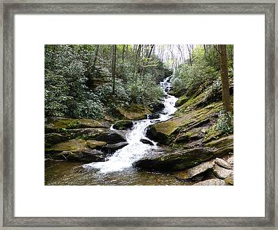 Roaring Fork Falls  - May 2015 Framed Print by Joel Deutsch