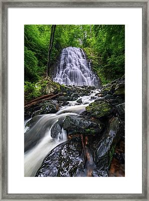 Crabtree Falls North Carolina Framed Print
