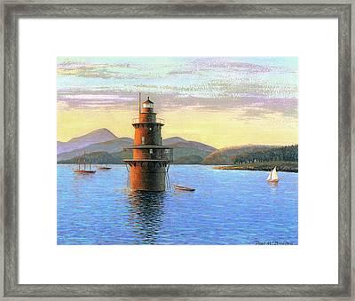 Crabtree Ledge Light Framed Print by Paul Breeden