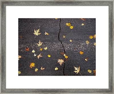 Crack 2 Framed Print by Lyle Crump