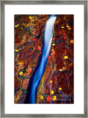 Crack In The Rock Framed Print by Inge Johnsson