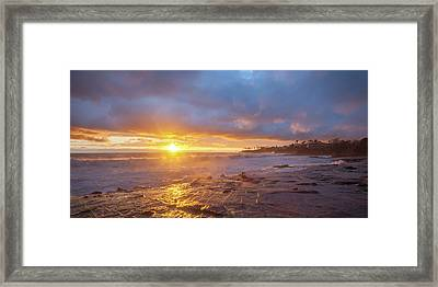 Framed Print featuring the photograph Crack In The Sky by Cliff Wassmann