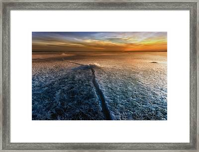Crack In The World Framed Print by Piotr Krol (bax)