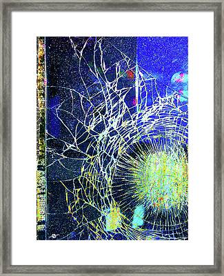 Framed Print featuring the mixed media Crack by Tony Rubino