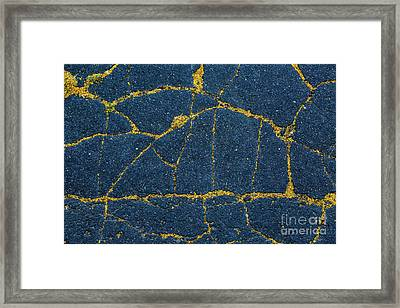 Cracked #5 Framed Print