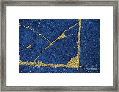 Cracked #8 Framed Print