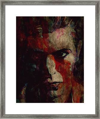 Cracked Actor Framed Print