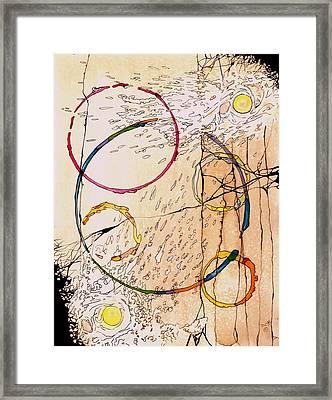 Cracked Framed Print by Diana Cardosi-Bussone