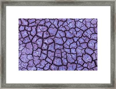 Cracked Dry Earth Framed Print
