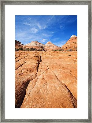 Cracked Framed Print by Mike  Dawson