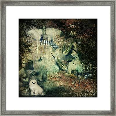 Cracked Miracle Framed Print