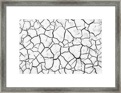 Cracked Mud Framed Print by Brandon Tabiolo - Printscapes