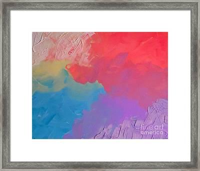 Cracked Pastels Framed Print by Jilian Cramb - AMothersFineArt