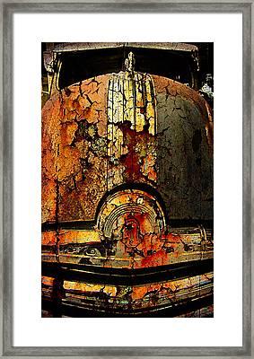Cracked Pontiac Framed Print