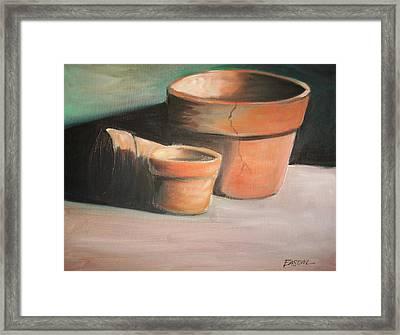 Cracked Pots Framed Print by Scott Easom