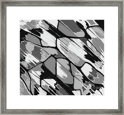 Cracked Rain Framed Print