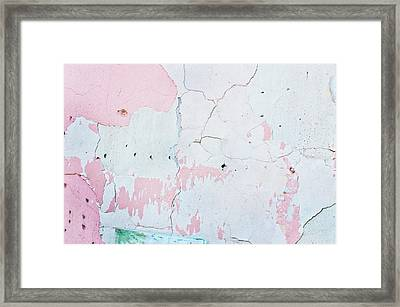 Cracked Stone Surface Framed Print by Tom Gowanlock