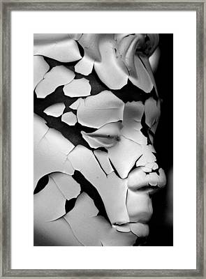 Cracked Up Framed Print by Jez C Self