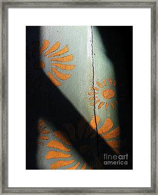 Cracked Wall Framed Print by Maria Scarfone