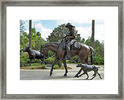 Cracker Cowboy And His Dog Framed Print