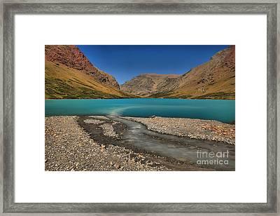 Cracker Lake Blue Waters Framed Print