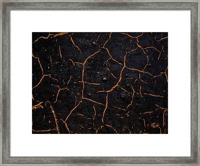 Framed Print featuring the photograph Cracking Paint by Jason Moynihan