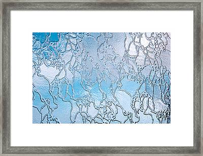 Crackle Sky Framed Print